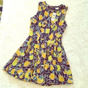 Madison Jules M lemon dress NWT